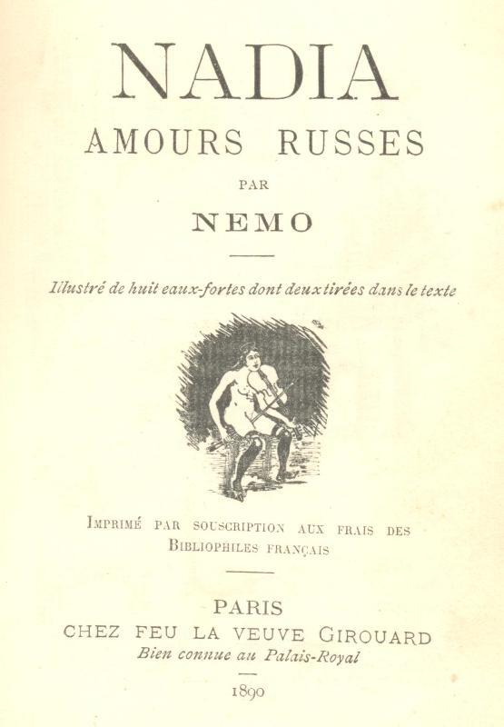 La Comtesse de Lesbos. Nadia. Amours russes (конволют)
