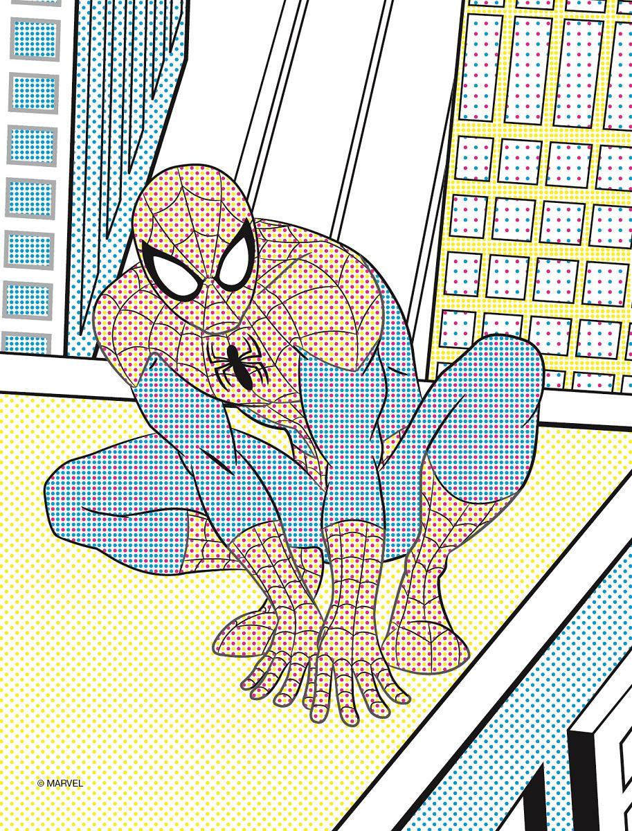 Marvel. Человек-паук. Водная раскраска