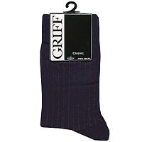 Носки мужские Classic. B3B3Мужские носки Griff Classic изготовлены из высококачественного сырья с добавлением полиамидных и эластановых волокон, которые обеспечивают великолепную посадку. Носки отличаются элегантным внешним видом. Удобная широкая резинка идеально облегает ногу и не пережимает сосуды, усиленные пятка и мысок повышают износоустойчивость носка, а удлиненный паголенок придает более эстетичный вид.