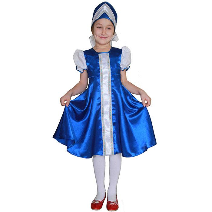 Карнавальный костюм для девочки Царевна. 102 027102 027Яркий детский карнавальный костюм Царевна позволит вашей малышке быть самой красивой девочкой на детском утреннике, бале-маскараде или карнавале. Шикарное платье с рукавами-фонариками выполнено из легкого атласного материала и по центру декорировано тесьмой, на спинке застегивается на липучки. Рукава изготовлены из легкого полупрозрачного материала. Дополнит образ Царевны оригинальный кокошник, декорированный тематическим узором, он крепится на голове при помощи широких лент. Такой карнавальный костюм привлечет внимание друзей вашего ребенка и подчеркнет его индивидуальность. Веселое настроение и масса положительных эмоций будут обеспечены!