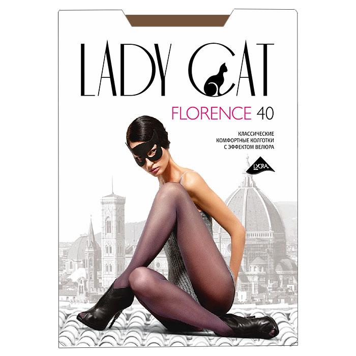 Колготки Florence 40Florence 40_SuntanМатовые колготки из мультифибры Грация Lady Cat Florence 40 с нежным эффектом велюра очень комфортные, идеально облегающие и равномерно плотные по всей длине. Хлопковая ластовица и плоские швы обеспечивают комфорт. Плотность: 40 den.