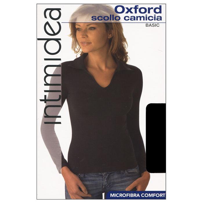 ФутболкаIN-T-Shirt Oxford NeroЖенская футболка Oxford с длинным рукавом и с воротником-поло выполнена из микрофибры, она очень мягкая на ощупь, не раздражает даже самую нежную и чувствительную кожу. Футболка очень удобна в использовании, ее можно носить как с брюками, так и с юбкой. Отличный вариант для повседневного использования!