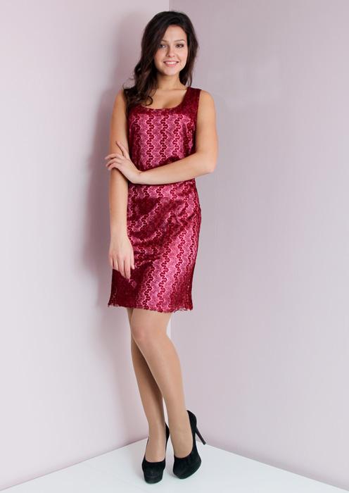 Платье21 9746_1559-18Платье-футляр Festival на широких бретелях и с круглым вырезом горловины выполнено из атласного материала и декорировано легкой гипюровой сеточкой. Лаконичный крой и роскошное сияние атласа в сочетании с изысканным кружевом делают это полуприлегающее платье беспроигрышным вариантом для любого специального случая.
