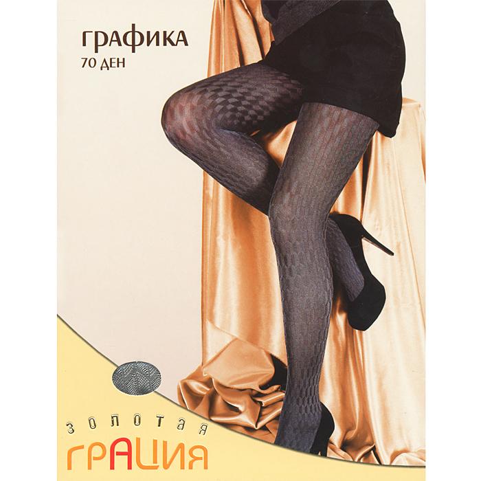 Колготки Графика 70Графика 70_латтеКрасивые фантазийные колготки с оригинальным геометрическим рисунком по всей ноге. Хлопковая ластовица и плоские швы обеспечивают максимальный комфорт.