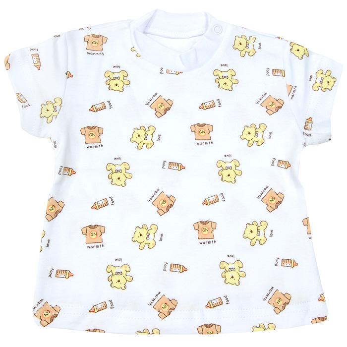 33-237Детская футболка Фреш Стайл с коротким рукавом идеально подойдет вашему ребенку, обеспечивая ему наибольший комфорт. Футболка с рисунком на белом фоне выполнена из натурального хлопка, благодаря чему она необычайно мягкая и приятная на ощупь, не раздражает нежную кожу ребенка и хорошо вентилируется. Удобные кнопки на плече футболки помогают легко переодеть ребенка, а удобные лекала учитывают физиологические особенности малыша. Футболка, расклешенная книзу, не обтягивает животик и не сковывает движений. Забавный рисунок на ткани поднимет настроение вам и вашему малышу. Оригинальный дизайн и яркая расцветка делают эту футболку оригинальным и стильным предметом детского гардероба.