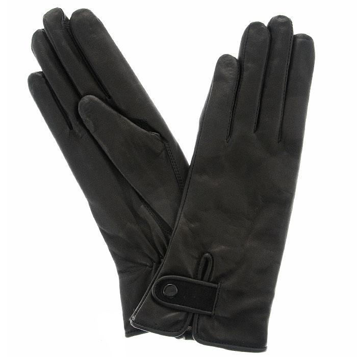 Перчатки женские Gargiulo на шерсти. 188Э-21L_188Стильные женские перчатки Edmins не только защитят ваши руки от холода, но и станут великолепным украшением. Перчатки выполнены из чрезвычайно мягкой и приятной на ощупь натуральной кожи, а их подкладка - из шерсти. На внутренней стороне сделана небольшая сборка резинкой для того, чтобы перчатки лучше сидели. На внешней стороне выполнен небольшой разрезик, который застегивается при помощи кнопки. В настоящее время перчатки являются неотъемлемой принадлежностью одежды, вместе с этим аксессуаром вы обретаете женственность и элегантность. Перчатки станут завершающим и подчеркивающим элементом вашего стиля и неповторимости.