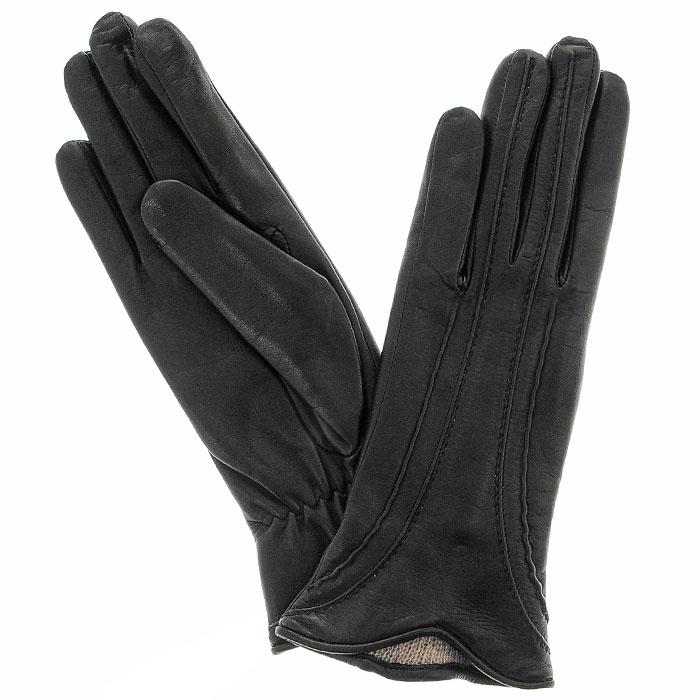 ПерчаткиЭ-2L_574Стильные женские перчатки Edmins не только защитят ваши руки от холода, но и станут великолепным украшением. Перчатки выполнены из чрезвычайно мягкой и приятной на ощупь натуральной кожи, а их подкладка - из шерсти. На тыльной стороне сделана небольшая сборка резинкой для того, чтобы перчатки лучше сидели. Фигурный край перчатки и декоративные строчки придают изделию особое очарование. В настоящее время перчатки являются неотъемлемой принадлежностью одежды, вместе с этим аксессуаром вы обретаете женственность и элегантность. Перчатки станут завершающим и подчеркивающим элементом вашего стиля и неповторимости.