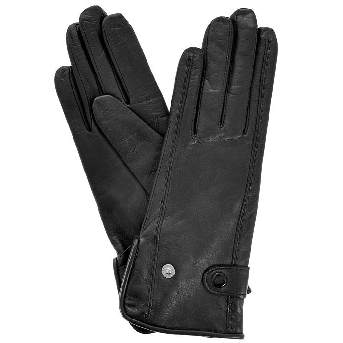 Перчатки женские Gargiulo на шерсти. 494Э-21L_494Стильные женские перчатки Edmins Gargiulo не только защитят ваши руки от холода, но и станут великолепным украшением. Перчатки выполнены из чрезвычайно мягкой и приятной на ощупь натуральной кожи, а их подкладка - из шерсти. По внешней стороне выполнена декоротивная отстрошка по всей длине изделия, с внутреннего края выполнен небольшой разрезик. На запястье перчка с внешней стороны фиксируется двумя хлястикам с кнопочками для лучшего прилегания. В настоящее время перчатки являются неотъемлемой принадлежностью одежды, вместе с этим аксессуаром вы обретаете женственность и элегантность. Перчатки станут завершающим и подчеркивающим элементом вашего стиля и неповторимости.