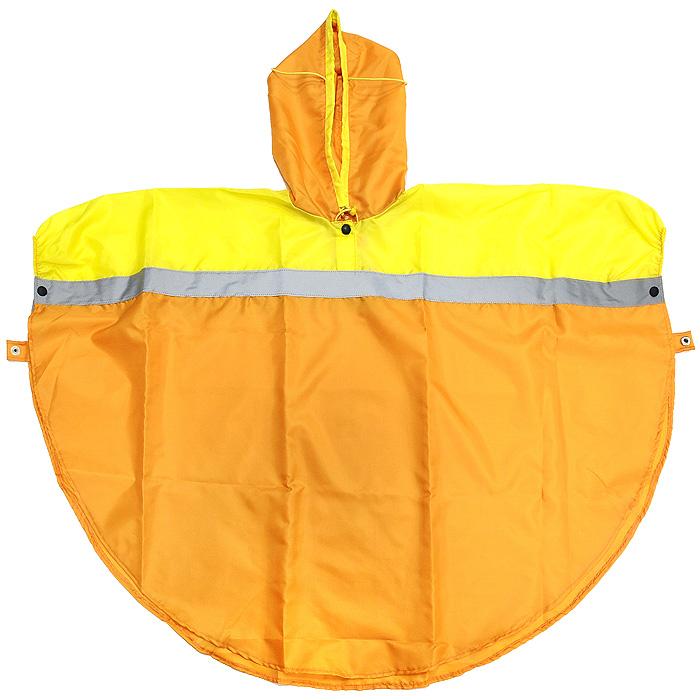 NAC08Яркая и удобная накидка-дождевик Чудо-Чадо Светлячок со светоотражающей лентой защитит ребенка от дождя и сделает его заметным. Дождевик изготовлен из плотной плащевки с водоотталкивающей пропиткой, которая не промокает и не липнет к одежде. Специальная конструкция накидки не сковывает движения ребенка, позволяет спрятаться под дождевик вместе с рюкзаком или сумкой, в этом дождевике можно даже кататься на велосипеде. Дождевик выполнен в виде пончо, с помощью кнопок он застегивается на запястьях, образуя тем самым рукава, или фиксируется на талии. Особый капюшон закрывает голову, но при этом не мешает смотреть по сторонам и не слетает от ветра. Светоотражающая лента по всей окружности накидки делает ребенка заметным даже в темное время суток. Дождевик легко складывается и займет совсем немного места в сумке. Его всегда можно носить с собой. Гулять в таком ярком дождевике одно удовольствие для ребенка, и полное спокойствие для...
