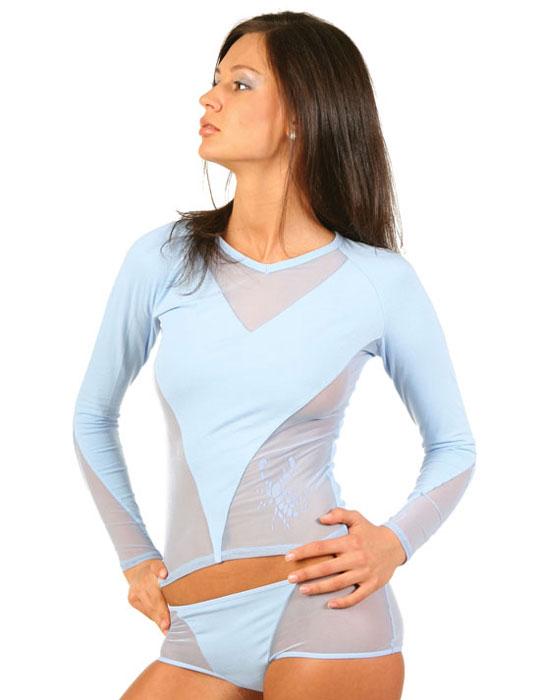ФутболкаLF1-150Стильная женская классическая футболка с длинными рукавами, изготовленная из хлопка с добавлением лайкры, прекрасно подойдет для любого типа фигуры. Спереди футболка оформлена вставками из сеточки. Такая замечательная футболка станет как отличным украшением гардероба, так и восхитительным подарком. В ней вы всегда будет в центре внимания!