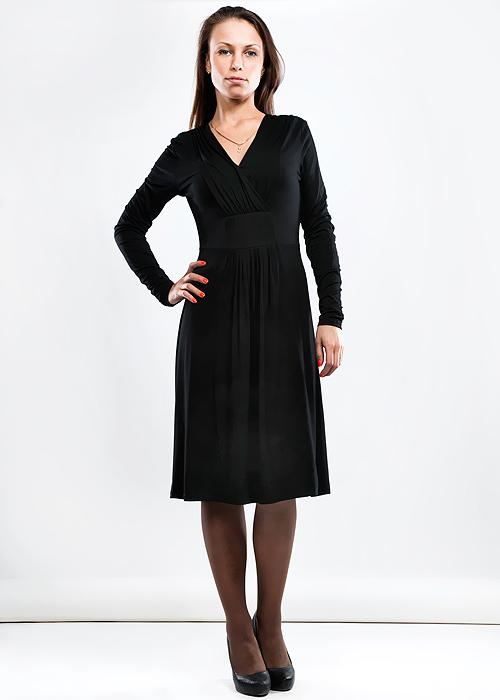 Платье. GcldGcldЭффектное платье Fever, изготовленное из высококачественного материала, очень мягкое на ощупь, не раздражает даже самую нежную и чувствительную кожу, обеспечивая наибольший комфорт. Модель с длинными рукавами и V-образным вырезом горловины с запахом. Облегающий крой платья подчеркнет стройность фигуры. Идеальный вариант для создания эффектного образа.
