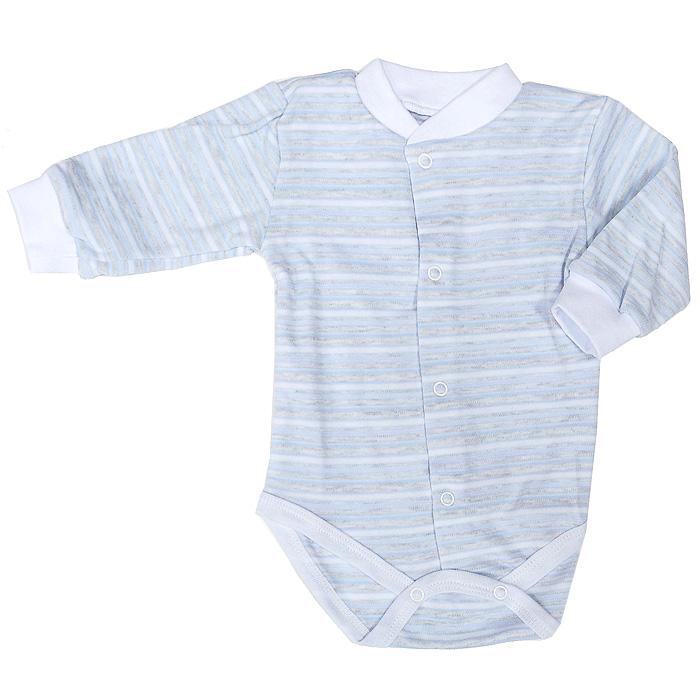 Боди детское. 39-32739-327Детское боди Фреш Стайл идеально подойдет вашему ребенку, обеспечивая ему наибольший комфорт. Боди с длинными рукавами изготовлено из натурального хлопка, благодаря чему оно необычайно мягкое и легкое, не раздражает нежную кожу ребенка и хорошо вентилируется. Боди не сковывает движения малыша, а удобные застежки-кнопки по всей длине и на ластовице помогают легко переодеть ребенка. Современный дизайн и яркая расцветка делают боди оригинальным и стильным предметом детского гардероба. В нем ваш ребенок всегда будет в центре внимания.