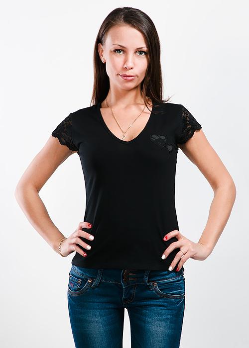 ФутболкаLF-221Стильная женская классическая футболка с короткими рукавами, изготовленная из хлопка с добавлением лайкры, прекрасно подойдет для любого типа фигуры. Спереди футболка оформлена аппликацией в виде сердечек. Такая замечательная футболка станет как отличным украшением гардероба, так и восхитительным подарком. В ней вы всегда будет в центре внимания!
