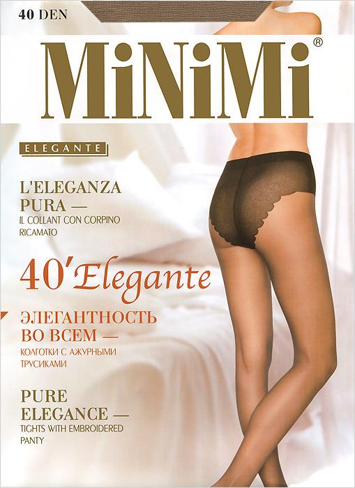 Колготки Elegante 40Elegante 40Классические эластичные колготки Elegante 40 с ажурными трусиками, гигиеничной ластовицей и укрепленным мыском. Сформированная ступня. Плотность: 40 ден.