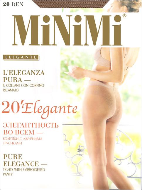 Колготки Elegante 20Elegante 20Тонкие классические эластичные колготки Elegante 20 с ажурными трусиками, гигиеничной ластовицей и укрепленным мыском. Сформированная ступня. Плотность: 20 ден.