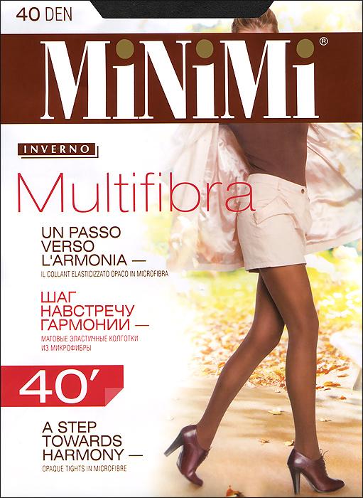 Колготки Multifibra 40Multifibra 40Матовые эластичные колготки Minimi Multifibra 40из микрофибры с комфортным поясом и гигиеничной ластовицей. Плоский шов. Плотность: 40 ден.