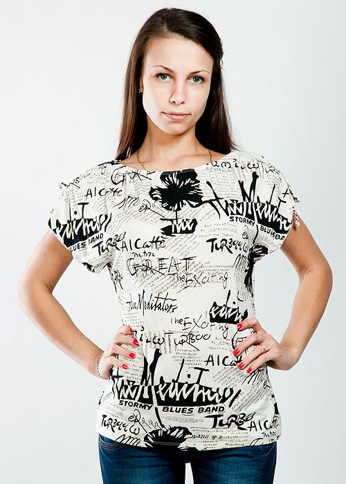 ФутболкаLF-203Очаровательная футболка Lowry приталенного силуета, изготовленная из высококачественного материала, приятная на ощупь, не сковывает движения, обеспечивая наибольший комфорт. Модель с вырезом горловины лодочка и короткими рукавами на плечах затягивается кулиской. Очень комфортная модель, которая отлично будет смотреться с различными предметами вашего гардероба.