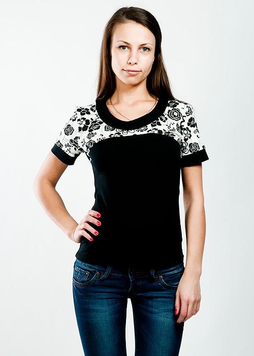 ФутболкаLF-225Стильная женская классическая футболка с короткими рукавами, изготовленная из хлопка с добавлением лайкры, прекрасно подойдет для любого типа фигуры. Такая замечательная футболка станет как отличным украшением гардероба, так и восхитительным подарком. В ней вы всегда будет в центре внимания!
