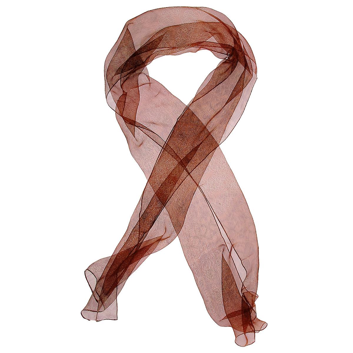 Шарф женский. 41010524101052Элегантный шарф с орнаментом, выполненный из полиэстера, станет изысканным, нарядным аксессуаром, который призван подчеркнуть индивидуальность и очарование женщины. Стильный шарф сделает ваш образ завершенным!