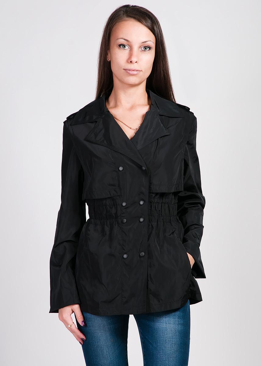 КурткаJesica-8/1Стильная куртка Silverline приталенного силуэта с широкими лацканами - незаменимая вещь в гардеробе любой женщины, которая прекрасно дополнит любой образ. Изготовлена из водоотталкивающей ткани. Модель с отложным воротником застегивается на два ряда кнопок, в верхней части изделия выполнена отлетная декоративная кокетка. На плечах расположены декоративные хлястики. Тонкую талию подчеркнут две внутренние резинки на некотором расстоянии друг от друга, имитирующие пояс. По бокам расположены два вертикальных прорезных кармана. В прохладную и ветреную погоду межсезонья куртка обеспечит вам защиту и комфорт.
