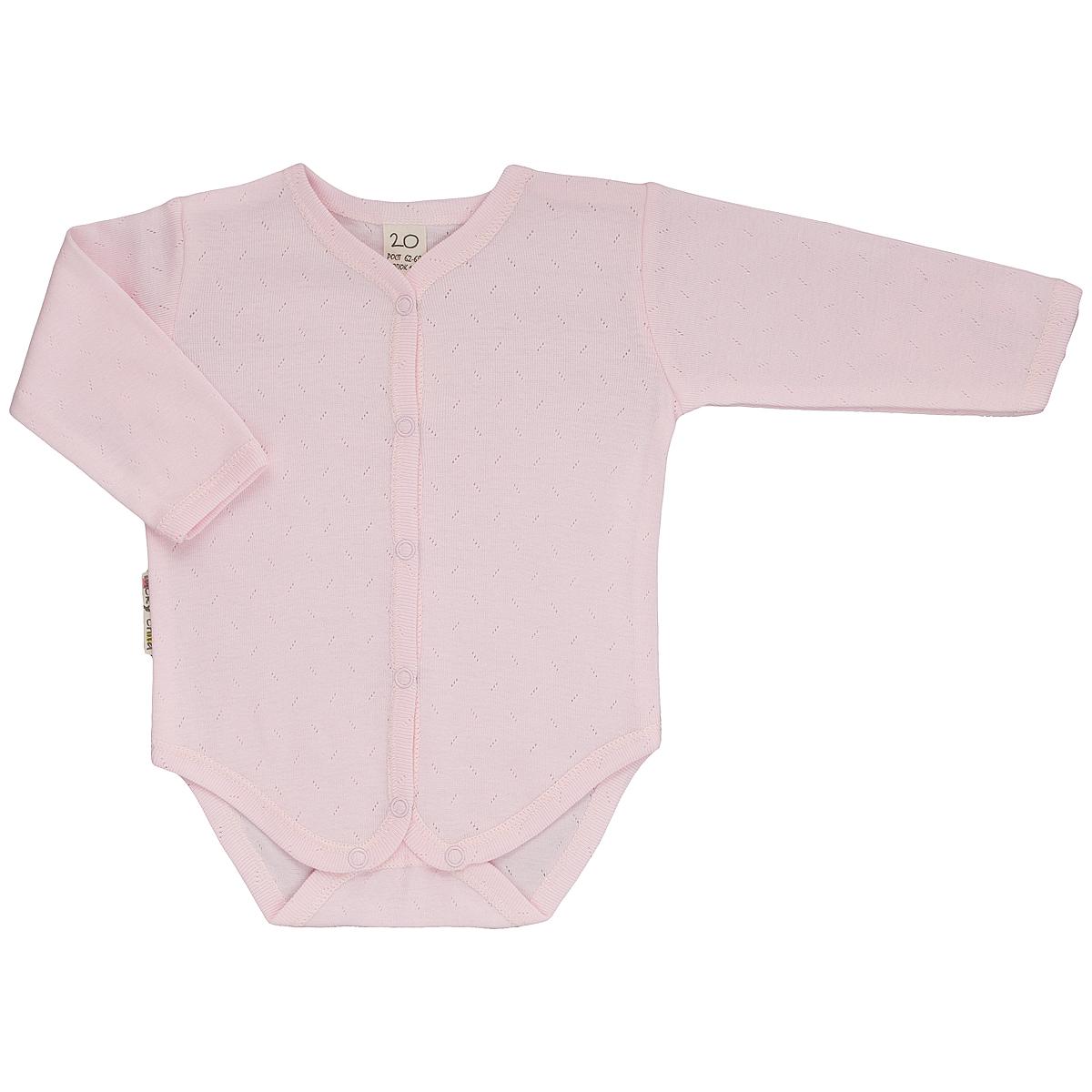 Боди детское Ажур. 0-60-6_ажурДетское боди Lucky Child с длинными рукавами послужит идеальным дополнением к гардеробу малыша, обеспечивая ему наибольший комфорт. Боди изготовлено из натурального хлопка, благодаря чему оно необычайно мягкое и легкое, не раздражает нежную кожу ребенка и хорошо вентилируется, а эластичные швы приятны телу малыша и не препятствуют его движениям. Удобные застежки-кнопки спереди по всей длине и на ластовице помогают легко переодеть младенца и сменить подгузник. Боди выполнено из ткани с ажурным узором. Боди полностью соответствует особенностям жизни малыша в ранний период, не стесняя и не ограничивая его в движениях. В нем ваш ребенок всегда будет в центре внимания.