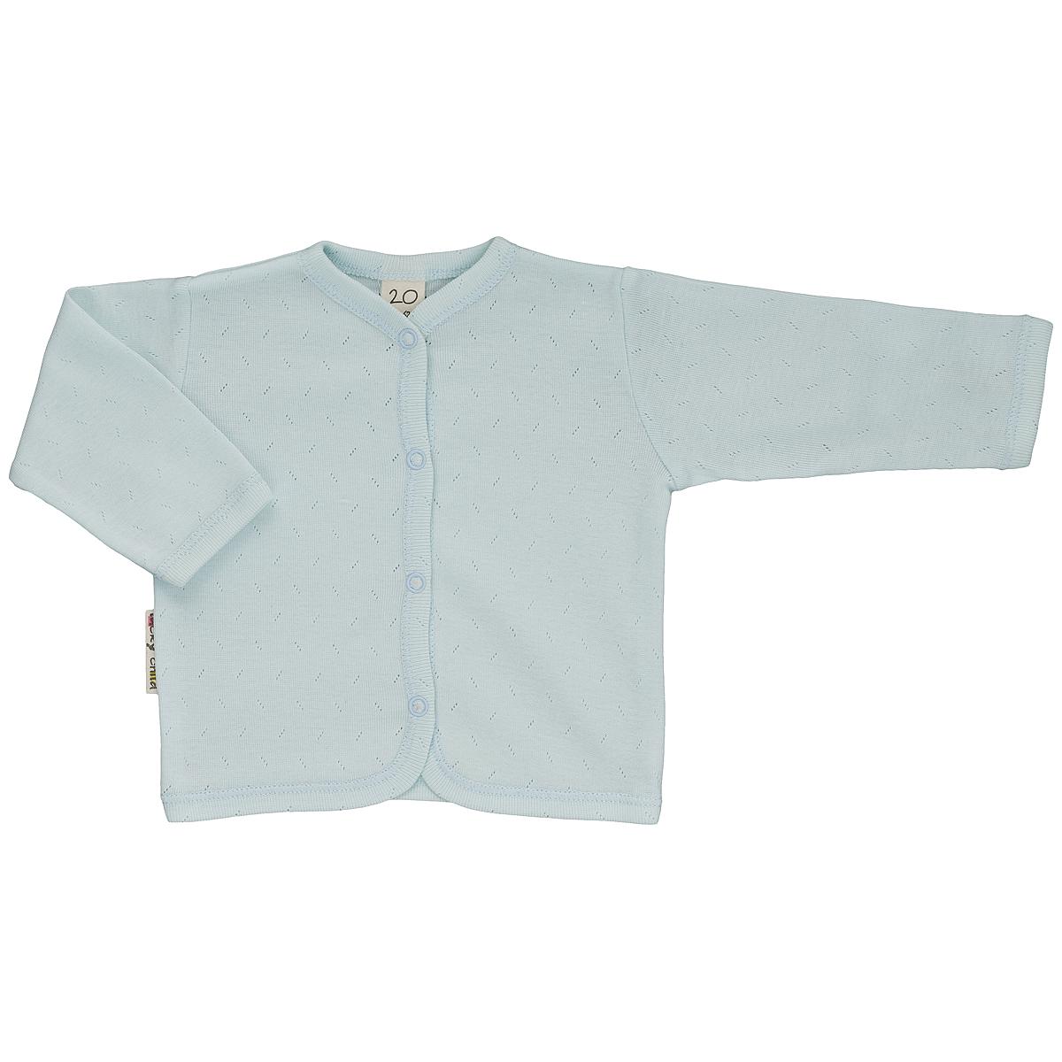 Распашонка0-7Кофточка для новорожденного Lucky Child Ажур с длинными рукавами послужит идеальным дополнением к гардеробу вашего малыша, обеспечивая ему наибольший комфорт. Изготовленная из натурального хлопка, она необычайно мягкая и легкая, не раздражает нежную кожу ребенка и хорошо вентилируется, а эластичные швы приятны телу малыша и не препятствуют его движениям. Удобные застежки-кнопки по всей длине помогают легко переодеть младенца. Модель выполнена из ткани с ажурным узором. Кофточка полностью соответствует особенностям жизни ребенка в ранний период, не стесняя и не ограничивая его в движениях. В ней ваш малыш всегда будет в центре внимания.