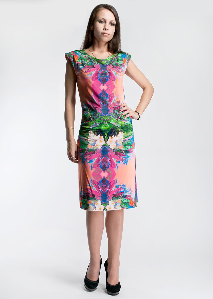 Платье. 041750-1455041750-1455Стильное платье Ana Alcazar, изготовленное из вискозы с небольшим добавлением эластана, не сковывает движений, обеспечивая наибольший комфорт. Модель с круглым вырезом горловины, без рукавов оформлена складками по бокам на уровне талии. В этом платье вы будете неотразимы в теплое время года.