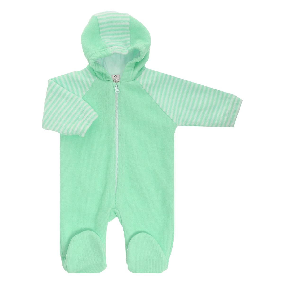 Комбинезон домашний4-13Детский вязаный комбинезон с капюшоном Lucky Child - очень удобный и практичный вид одежды для малышей. Комбинезон выполнен из натурального хлопка, на подкладке также используется натуральный хлопок, благодаря чему он необычайно мягкий и приятный на ощупь, не раздражают нежную кожу ребенка и хорошо вентилируются, а эластичные швы приятны телу малыша и не препятствуют его движениям. Комбинезон с длинными рукавами-реглан и закрытыми ножками имеет пластиковую застежку-молнию по центру, которая помогает легко переодеть младенца. Рукава понизу дополнены неширокими эластичными манжетами, не перетягивающими запястья. С детским комбинезоном Lucky Child спинка и ножки вашего малыша всегда будут в тепле. Комбинезон полностью соответствует особенностям жизни младенца в ранний период, не стесняя и не ограничивая его в движениях!