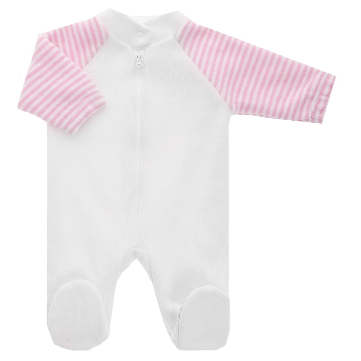 Комбинезон детский. 4-144-14Детский вязаный комбинезон Lucky Child - очень удобный и практичный вид одежды для малышей. Комбинезон выполнен из натурального хлопка, на подкладке также используется натуральный хлопок, благодаря чему он необычайно мягкий и приятный на ощупь, не раздражают нежную кожу ребенка и хорошо вентилируются, а эластичные швы приятны телу малыша и не препятствуют его движениям. Комбинезон с воротником-стойкой, длинными рукавами-реглан и закрытыми ножками имеет пластиковую застежку-молнию по центру, которая помогает легко переодеть младенца. Воротничок застегивается на металлическую кнопку. Рукава понизу дополнены неширокими эластичными манжетами, не перетягивающими запястья. С детским комбинезоном Lucky Child спинка и ножки вашего малыша всегда будут в тепле. Комбинезон полностью соответствует особенностям жизни младенца в ранний период, не стесняя и не ограничивая его в движениях!