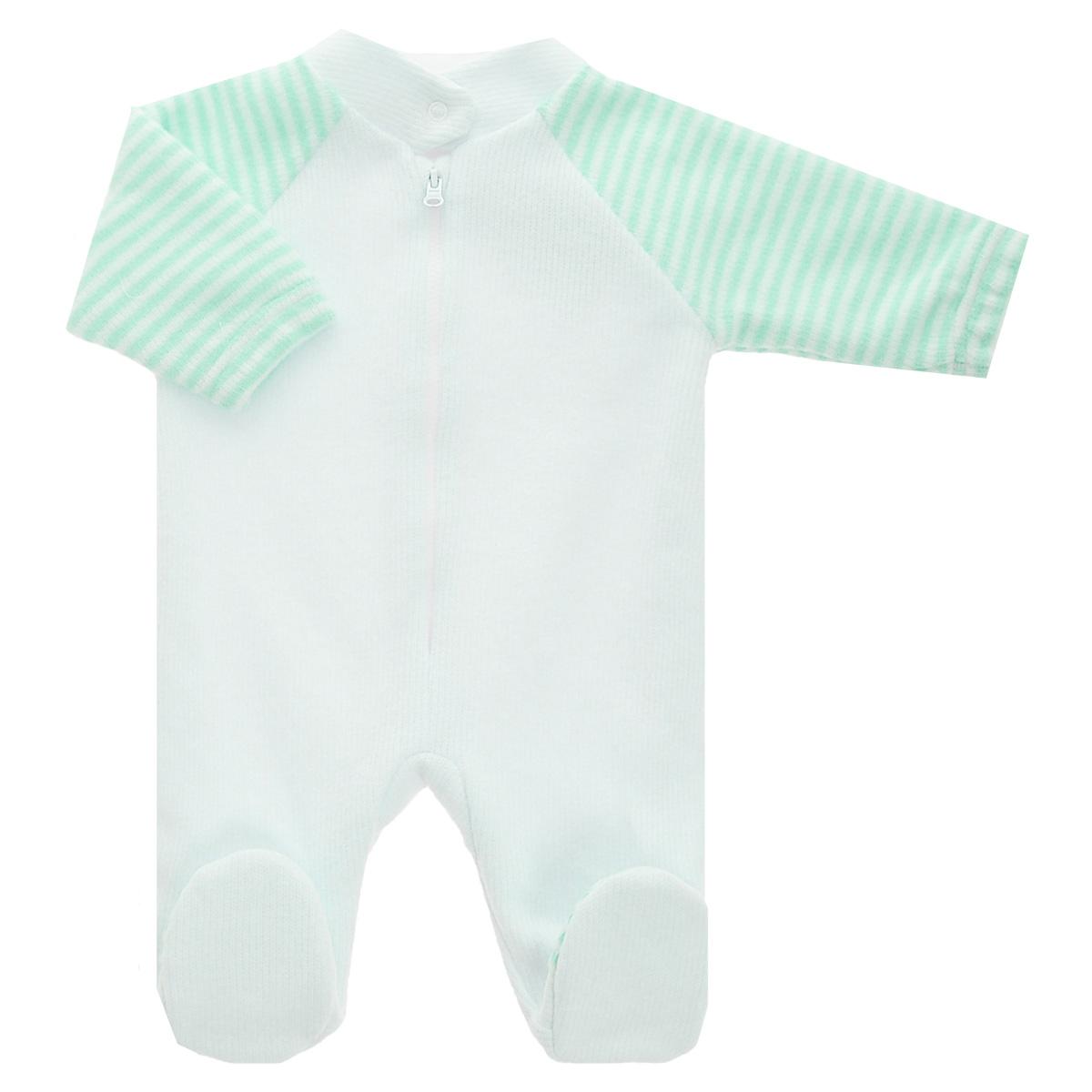 Комбинезон домашний4-14Детский вязаный комбинезон Lucky Child - очень удобный и практичный вид одежды для малышей. Комбинезон выполнен из натурального хлопка, на подкладке также используется натуральный хлопок, благодаря чему он необычайно мягкий и приятный на ощупь, не раздражают нежную кожу ребенка и хорошо вентилируются, а эластичные швы приятны телу малыша и не препятствуют его движениям. Комбинезон с воротником-стойкой, длинными рукавами-реглан и закрытыми ножками имеет пластиковую застежку-молнию по центру, которая помогает легко переодеть младенца. Воротничок застегивается на металлическую кнопку. Рукава понизу дополнены неширокими эластичными манжетами, не перетягивающими запястья. С детским комбинезоном Lucky Child спинка и ножки вашего малыша всегда будут в тепле. Комбинезон полностью соответствует особенностям жизни младенца в ранний период, не стесняя и не ограничивая его в движениях!