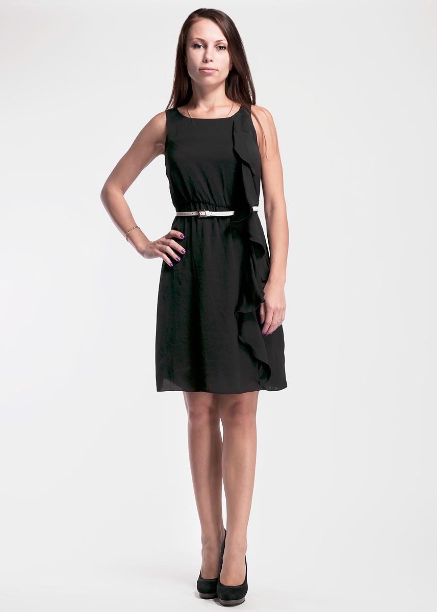 Платье61D2J1Оригинальное женское платье Toy G, выполненное из высококачественного материала, будет отлично смотреться на вас. Модель полуоблегающего кроя оформлено валаном вдоль платья. Платье на талии дополнено эластичной резинкой. Это платье идеальный вариант для вашего гардероба. Идеальный вариант для создания эффектного образа. К платью прилагается ремешок.