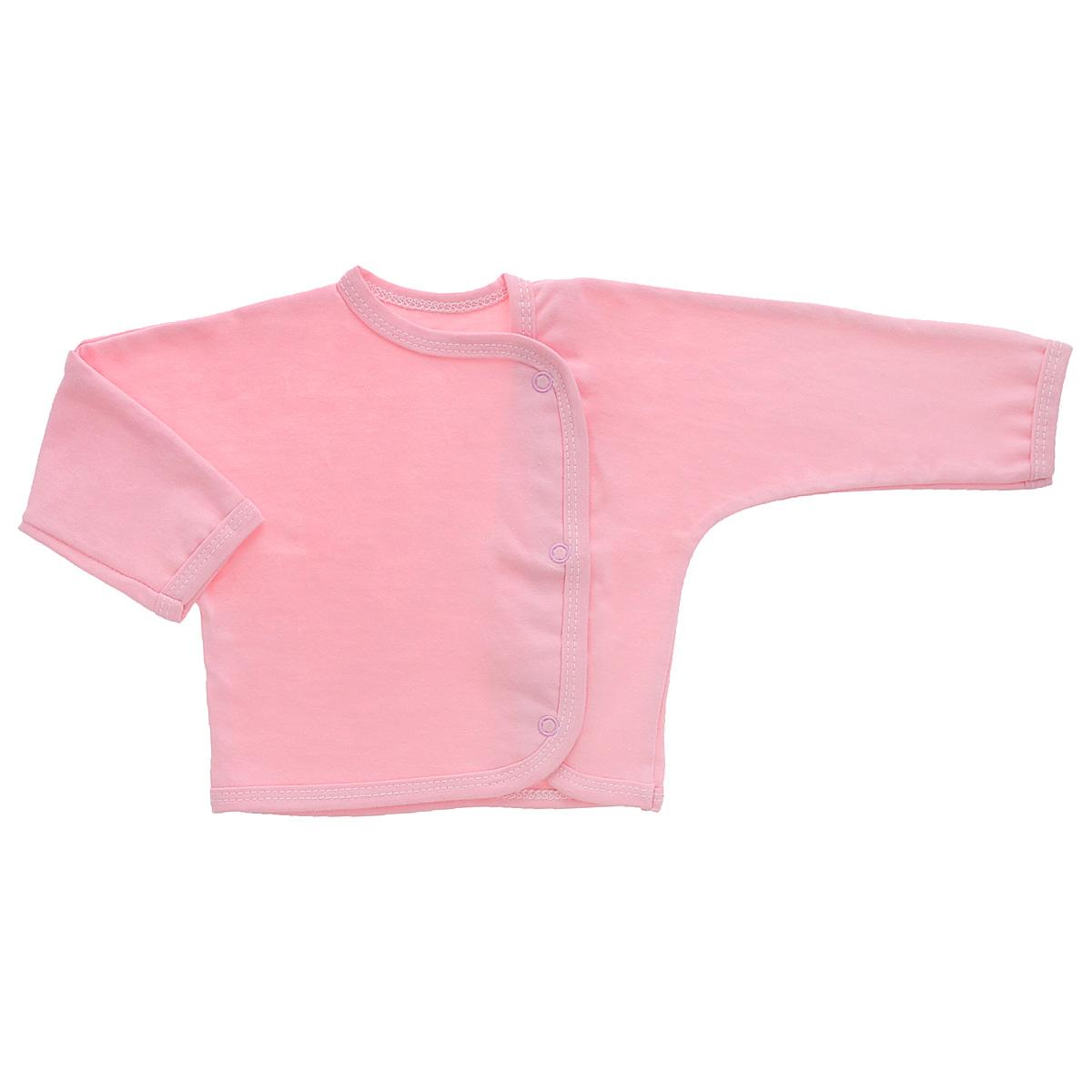 5153Кофточка с длинными рукавами Трон-плюс послужит идеальным дополнением к гардеробу младенца. Кофточка выполнена из кулирного полотна - натурального хлопка, благодаря чему она необычайно мягкая и легкая, не раздражает нежную кожу ребенка и хорошо вентилируется, а эластичные швы приятны телу малыша и не препятствуют его движениям. Кофточка застегивается спереди по всей длине при помощи кнопок, позволяют без труда переодеть ребенка.
