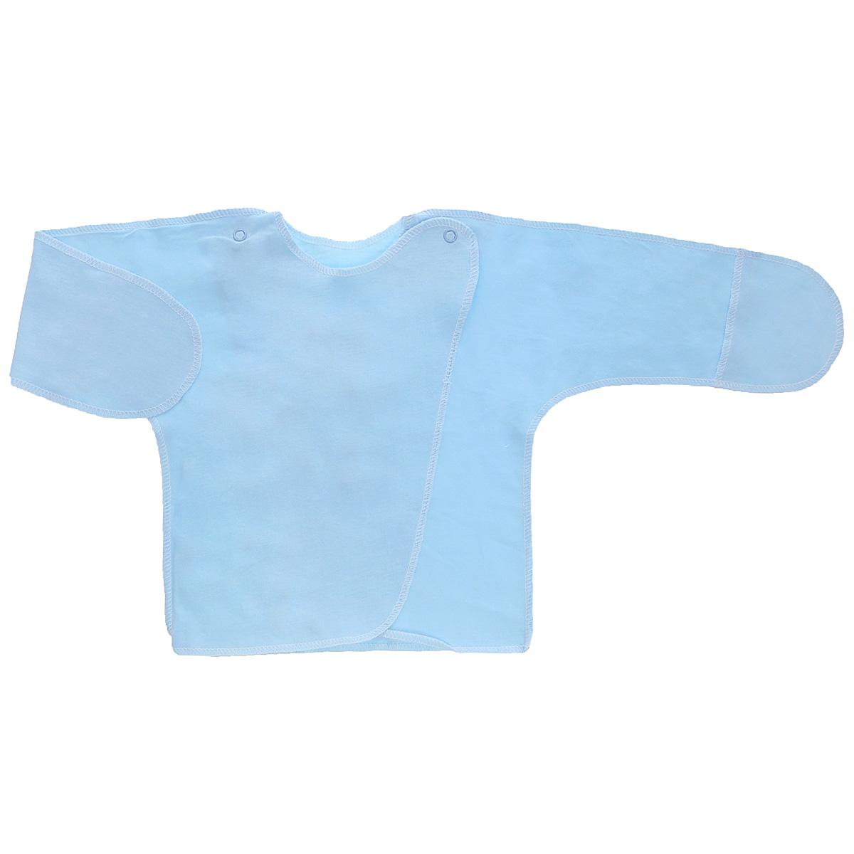 5003Распашонка с закрытыми ручками Трон-плюс послужит идеальным дополнением к гардеробу младенца. Распашонка, выполненная швами наружу, изготовлена из кулирного полотна - натурального хлопка, благодаря чему она необычайно мягкая и легкая, не раздражает нежную кожу ребенка и хорошо вентилируется, а эластичные швы приятны телу малыша и не препятствуют его движениям. Распашонка с запахом, застегивается при помощи двух кнопок на плечах, которые позволяют без труда переодеть ребенка. Благодаря рукавичкам ребенок не поцарапает себя.