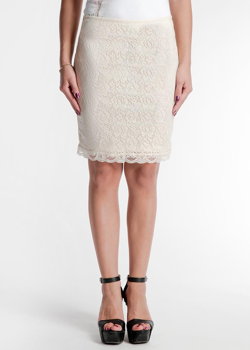 Юбка. 1015016710150167Стильная юбка изготовлена из легкого материала в сеточку и имеет однотонный подъюбник. Юбка с поясом на резинке застегивается на потайную застежку-молнию. В этой модной и в то же время комфортной юбке вы будете чувствовать себя женственной и привлекательной.