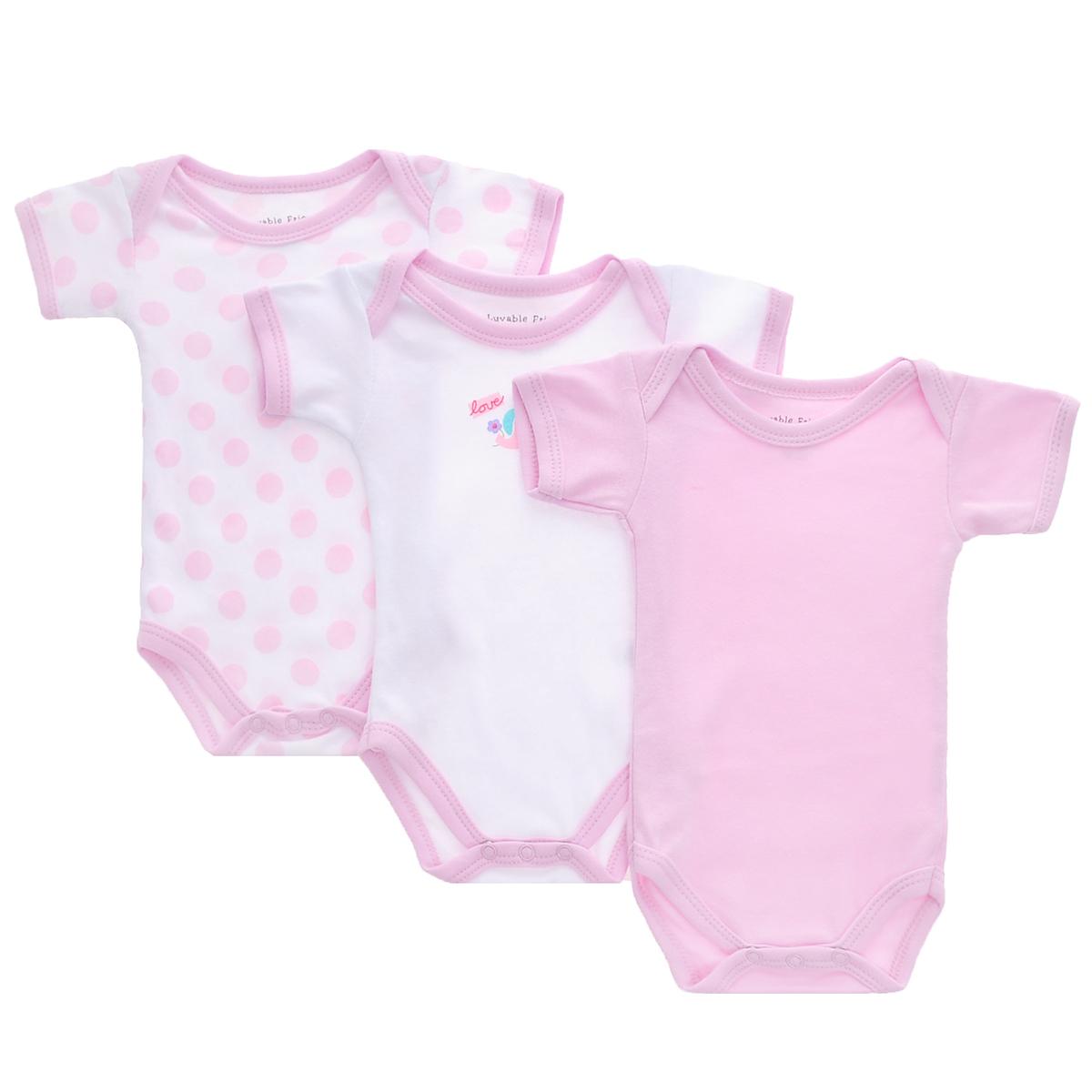 Боди детское, 3 шт. 3059030590Боди для новорожденного Luvable Friends с короткими рукавами послужит идеальным дополнением к гардеробу вашего малыша в теплое время года, обеспечивая ему наибольший комфорт. Боди изготовлено из интрелока - натурального хлопка, благодаря чему оно необычайно мягкое и легкое, не раздражает нежную кожу ребенка и хорошо вентилируется, а эластичные швы приятны телу младенца и не препятствуют его движениям. Интерлок - мягкий хлопчатобумажный трикотажный материал, имеющий приятную для тела гладкую фактуру, не скатывается при носке, не растягивается и не деформируется при стирке. Удобные запахи на плечах и кнопки на ластовице помогают легко переодеть младенца и сменить подгузник. Боди полностью соответствует особенностям жизни ребенка в ранний период, не стесняя и не ограничивая его в движениях. В нем ваш малыш всегда будет в центре внимания. В комплект входят боди трех расцветок.