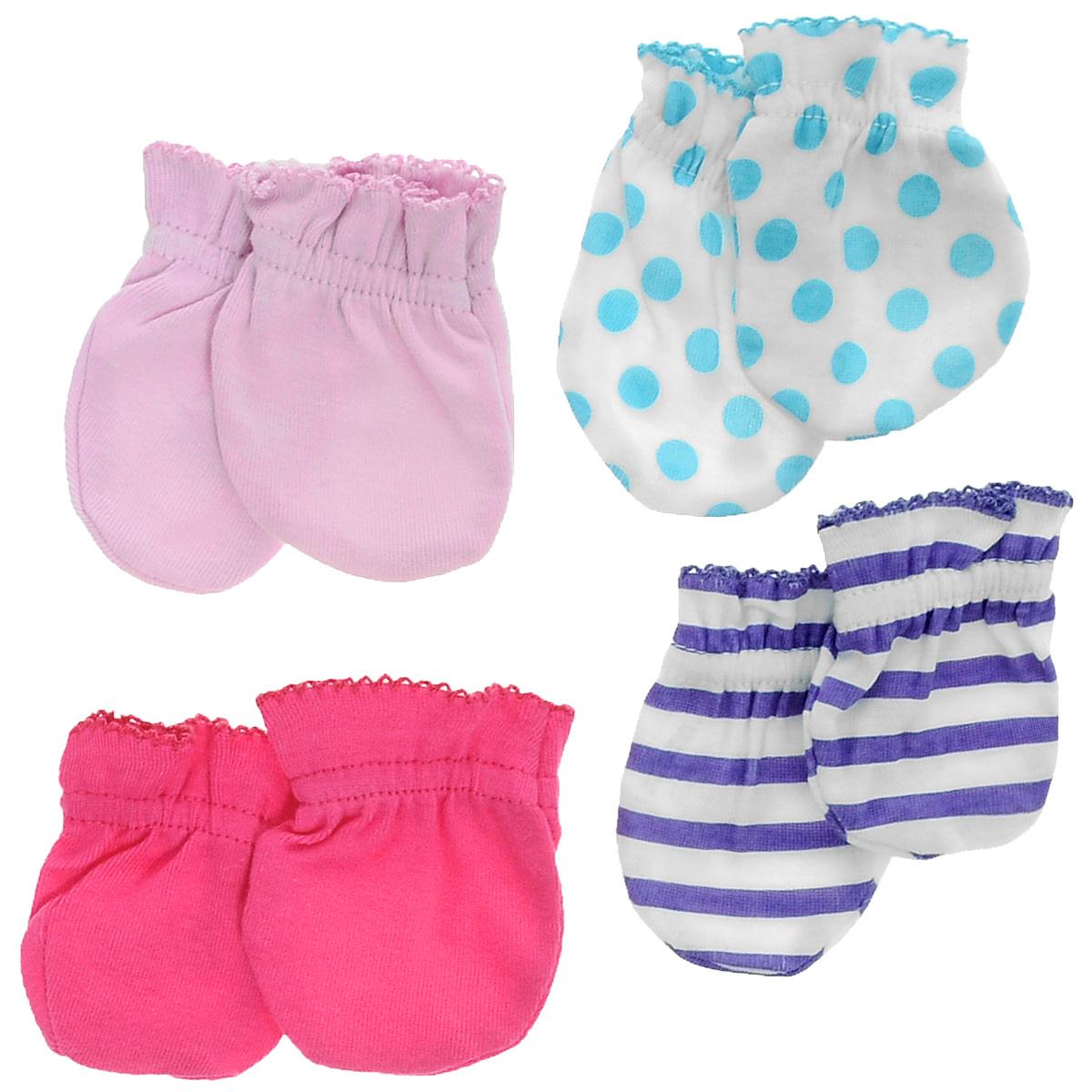 34705Рукавички для новорожденного Luvable Friends Радуга, изготовленные из натурального хлопка, идеально подойдут вашему малышу и обеспечат ему комфорт во время сна и бодрствования, предохраняя нежную кожу новорожденного от расцарапывания. В комплект входят четыре пары рукавичек.