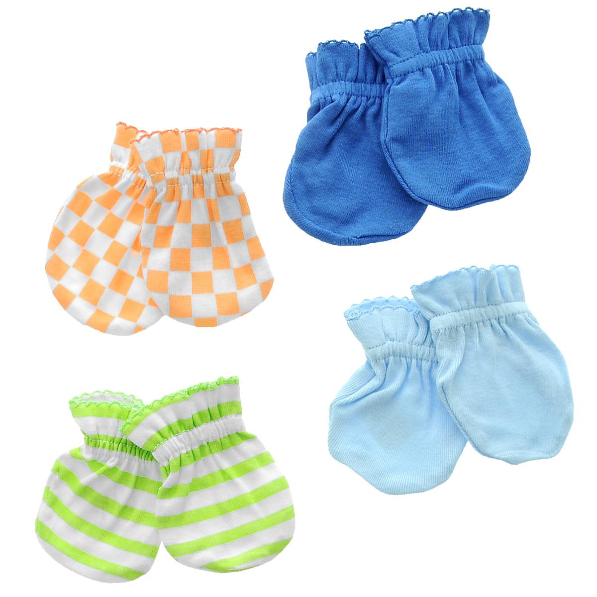 Варежки детские34705Рукавички для новорожденного Luvable Friends Радуга, изготовленные из натурального хлопка, идеально подойдут вашему малышу и обеспечат ему комфорт во время сна и бодрствования, предохраняя нежную кожу новорожденного от расцарапывания. В комплект входят четыре пары рукавичек.