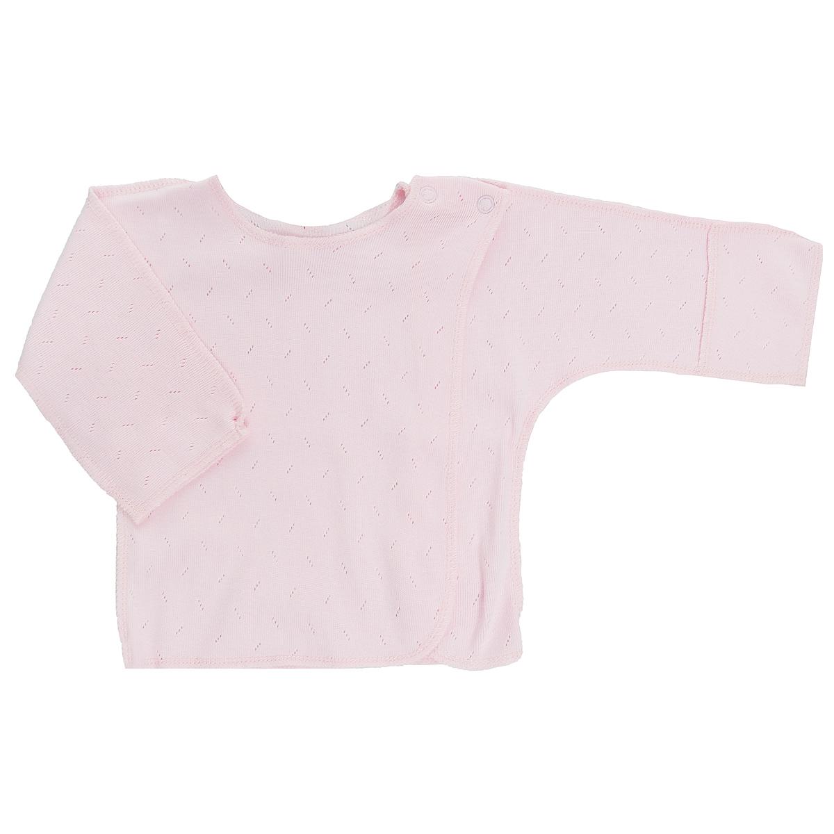 Распашонка0-8Распашонка для новорожденного Lucky Child Ажур с длинными рукавами послужит идеальным дополнением к гардеробу вашего малыша, обеспечивая ему наибольший комфорт. Распашонка изготовлена из натурального хлопка, благодаря чему она необычайно мягкая и легкая, не раздражает нежную кожу ребенка и хорошо вентилируется, а эластичные швы приятны телу малыша и не препятствуют его движениям. Распашонка-кимоно для новорожденного, выполненная швами наружу, и украшенная ажурным узором, имеет кнопки по плечу, которые помогают с легкостью переодеть малыша. А благодаря рукавичкам ребенок не поцарапает себя. Ручки могут быть как открытыми, так и закрытыми. Распашонка полностью соответствует особенностям жизни ребенка в ранний период, не стесняя и не ограничивая его в движениях. В ней ваш малыш всегда будет в центре внимания.