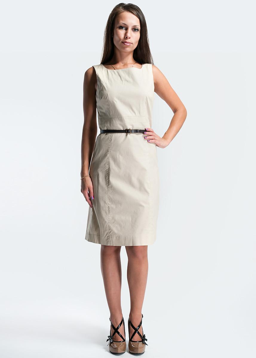 Платье16612194734Платье из натурального хлопка Корте Инглес. Женственное, элегантное и невероятно практичное - платье-футляр преподносит все достоинства женской фигуры в наиболее выгодном свете. Изготовлено из хлопковой ткани с добавлением эластана, благодаря чему изделие хорошо держит форму и не сминается, на подкладке из полиэстера. Талию подчеркивают поперечные вставки и тонкий кожаный ремешок с металлической пряжкой. В среднем шве спинки расположен небольшой разрез и потайная застежка-молния. Длина платья - до середины линии колен. Лаконичный дизайн делает платье превосходным выбором на каждый день.