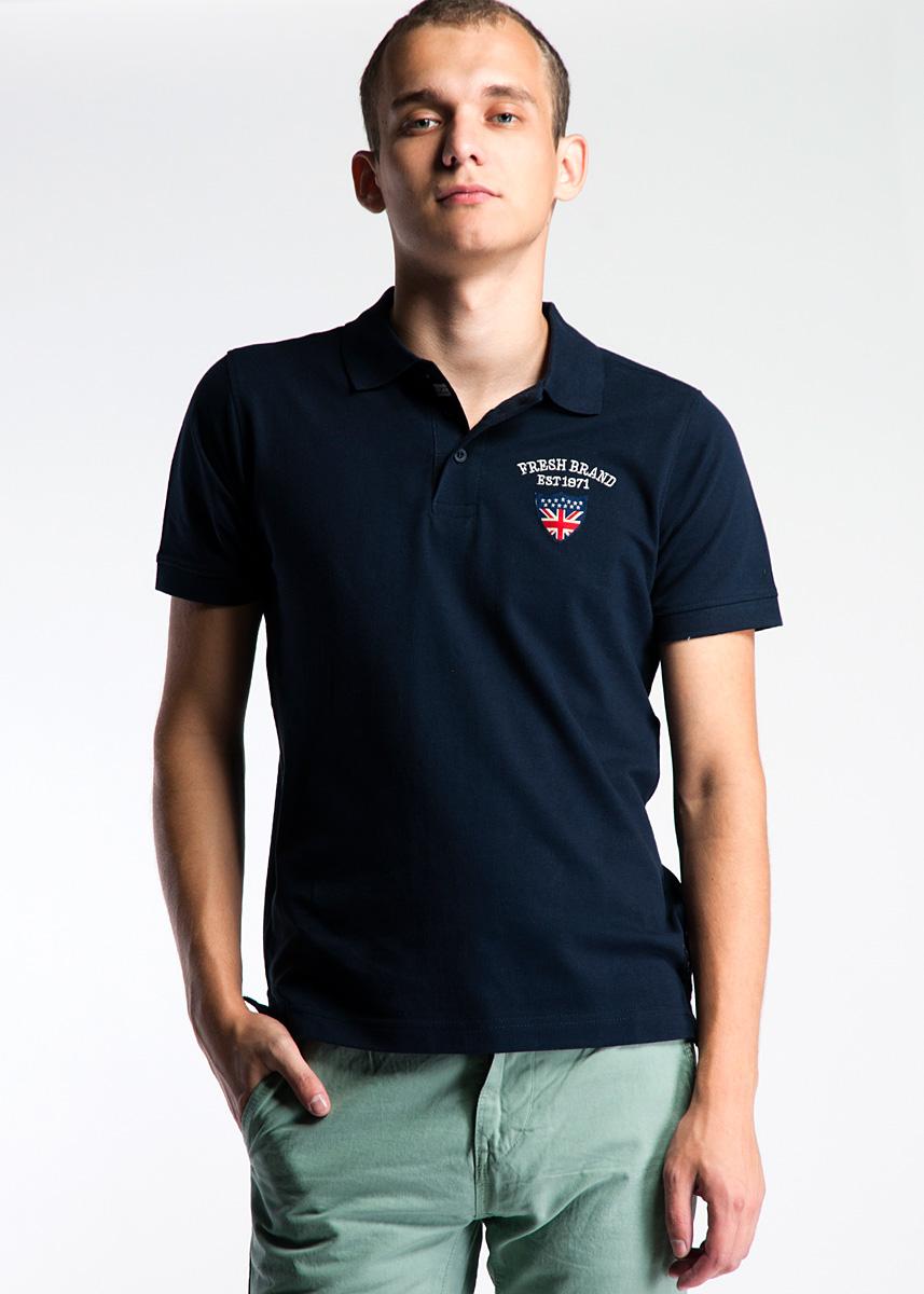 Футболка-поло мужская. E3 LF053E3 LF053 NAVYСтильная мужская футболка-поло Fresh Brand, выполненная из высококачественного материала, обладает высокой теплопроводностью, воздухопроницаемостью и гигроскопичностью, позволяет коже дышать. Модель с короткими рукавами и отложным воротником сверху застегивается на три пуговицы. На груди модель оформлена вышивкой в виде логотипа бренда. Задняя сторона футболки украшена большой оригинальной нашивкой. Эта футболка - идеальный вариант для создания эффектного образа.