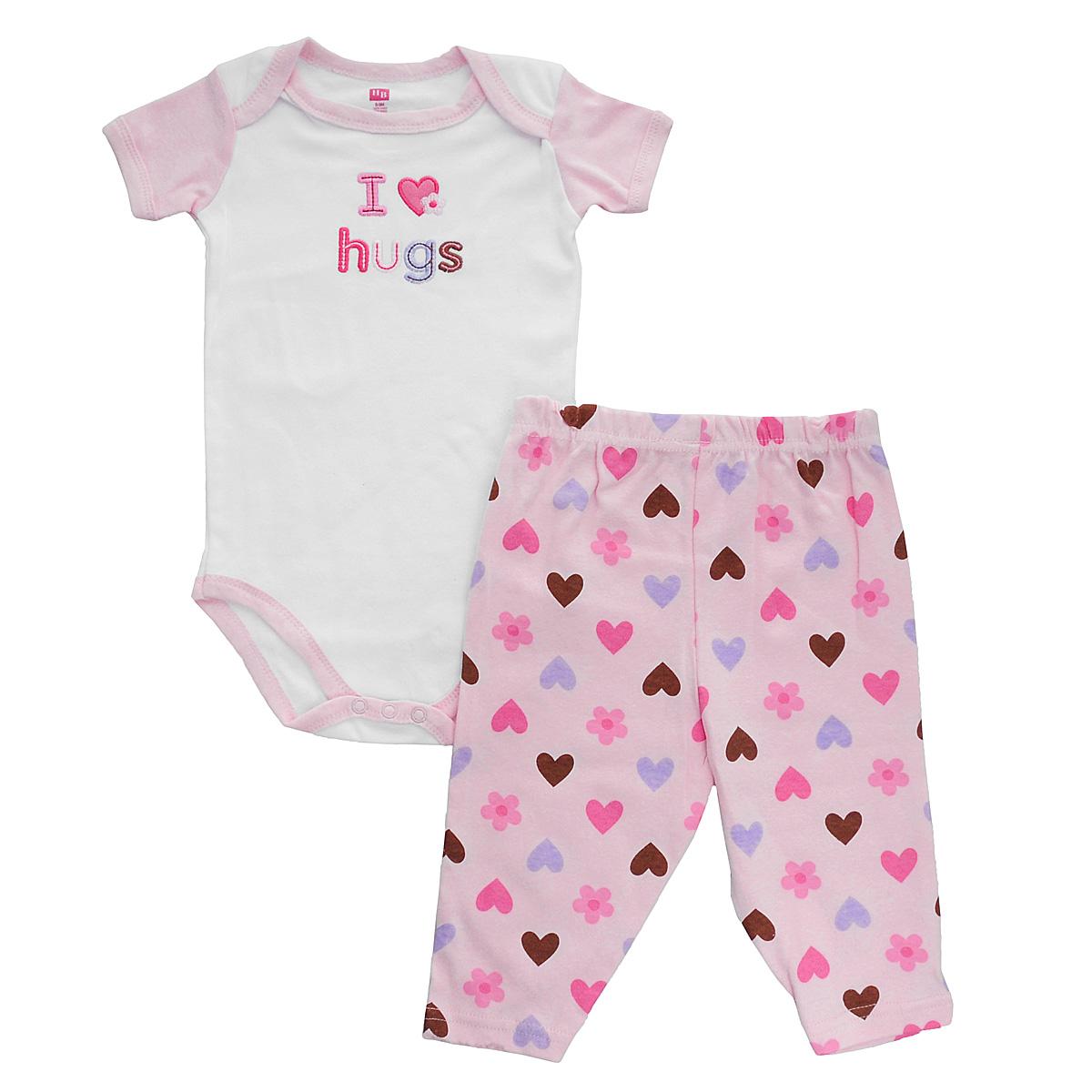 Hudson Baby Комплект для девочки Пирожное: боди, штанишки. 50350