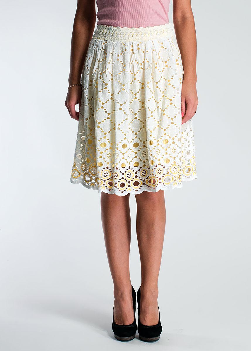 ЮбкаS350035Очаровательная пышная юбка, выполненная из хлопка, будет отлично смотреться на вас. Модель сбоку застегивается на застежку-молнию. Юбка оформлена декоративной перфорацией и имеет контрастную подкладку, придающую образу игривость и женственность. Эта юбка идеальный вариант для вашего гардероба. Идеальный вариант для создания эффектного образа.