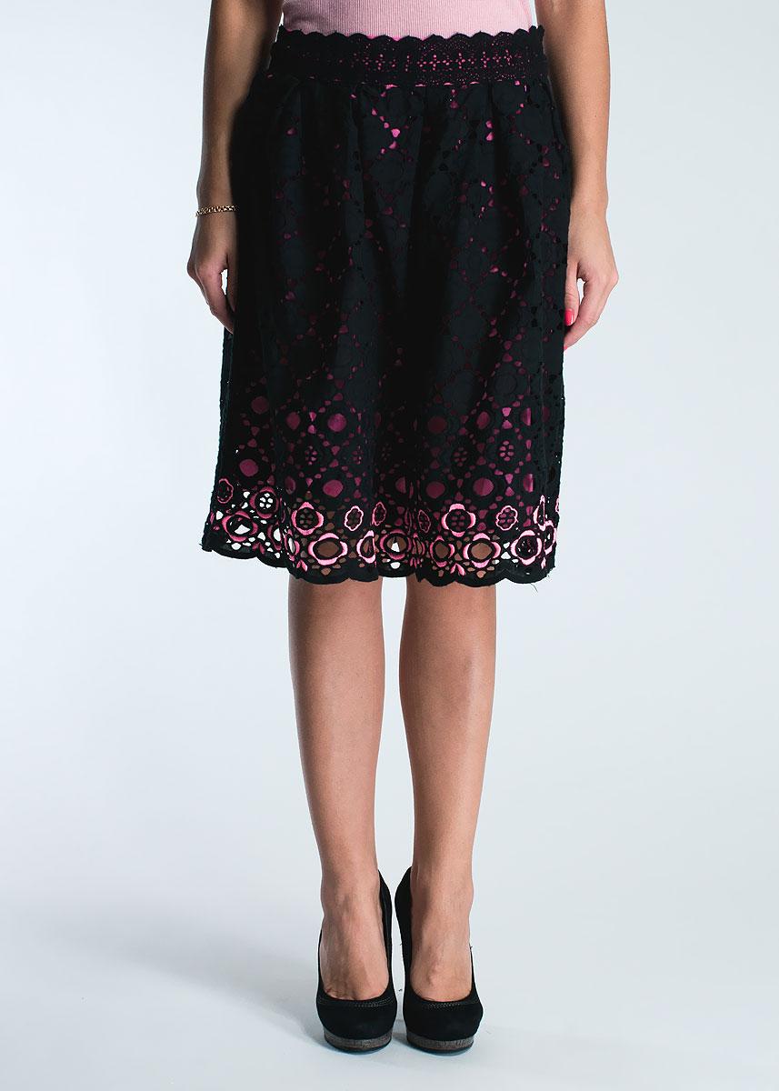 Юбка женская. S350035S350035Очаровательная пышная юбка, выполненная из хлопка, будет отлично смотреться на вас. Модель сбоку застегивается на застежку-молнию. Юбка оформлена декоративной перфорацией и имеет контрастную подкладку, придающую образу игривость и женственность. Эта юбка идеальный вариант для вашего гардероба. Идеальный вариант для создания эффектного образа.