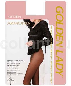 Колготки женские Armonia 40Armonia 40Элегантные прозрачные эластичные колготки Golden Lady Armonia 40 без штанишек, с комфортным швом и гигиеничной ластовицей.