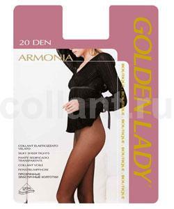Колготки женские Armonia 20Armonia 20Тончайшие прозрачные эластичные колготки Golden Lady Armonia 20 без штанишек, с комфортным швом и гигиеничной ластовицей.