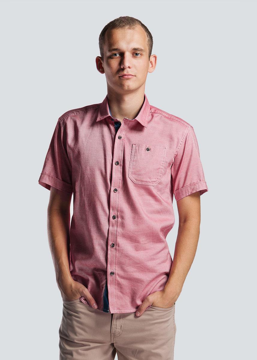 Рубашка мужская. 2-251782-25178 DUSTY REDСтильная мужская рубашка SHINE, изготовленная из натурального хлопка, необычайно мягкая и приятная на ощупь, не сковывает движения и позволяет коже дышать, не раздражает даже самую нежную и чувствительную кожу, обеспечивая наибольший комфорт. Модная рубашка, приталенного кроя с отложным воротником, полукруглым низом, застегивается на пуговицы. Спереди расположен кармашек. Эта рубашка идеальный вариант как для повседневного, так и для вечернего гардероба. Такая модель порадует настоящих ценителей комфорта и практичности!