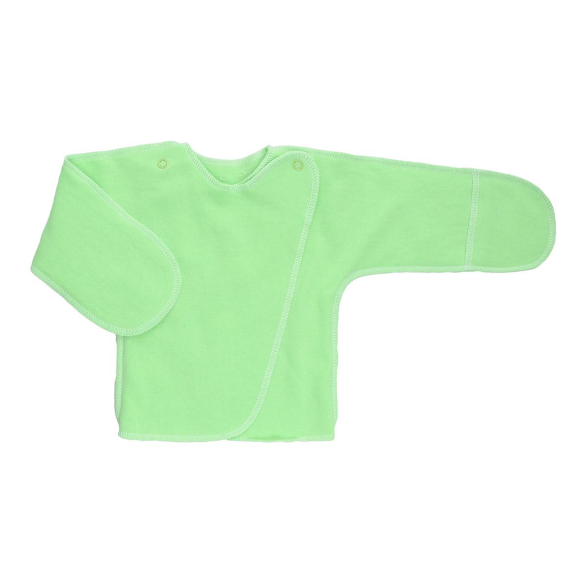 5023Распашонка с закрытыми ручками Трон-плюс послужит идеальным дополнением к гардеробу младенца. Распашонка, выполненная швами наружу, изготовлена из футера - натурального плотного хлопка, благодаря чему она необычайно мягкая, легкая и теплая, не раздражает нежную кожу ребенка и хорошо вентилируется, а эластичные швы приятны телу младенца и не препятствуют его движениям. Распашонка с запахом, застегивается при помощи двух кнопок на плечах, которые позволяют без труда переодеть ребенка. Благодаря рукавичкам ребенок не поцарапает себя.
