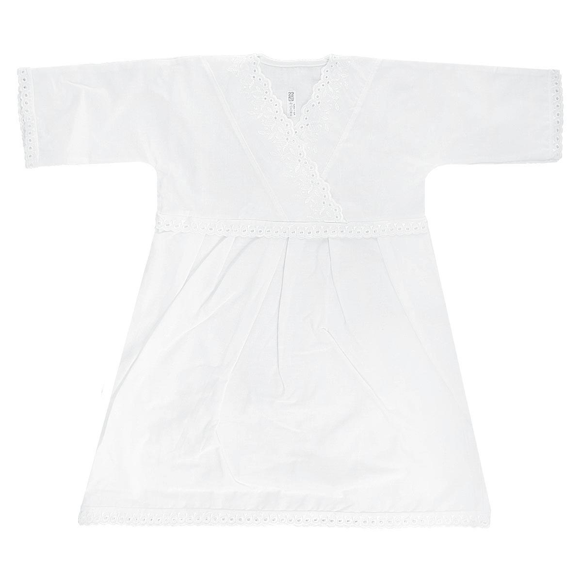 Крестильный набор1151Крестильная рубашка для девочки Трон-плюс, выполненная из натурального хлопка, идеально подойдет для крещения вашей малышки. Рубашка необычайно мягкая и приятная на ощупь, не сковывает движения и позволяет коже дышать, не раздражает нежную кожу ребенка, обеспечивая ему наибольший комфорт. Рубашка трапециевидной формы с длинными рукавами имеет полочку на кокетке с запахом, отделанную вышивками. Низ рукавов и низ изделия украшены очаровательными ажурными петельками. От линии талии заложены складочки, придающие рубашке пышность. Благодаря такой рубашке ваша малышка не замерзнет, и будет выглядеть нарядно.