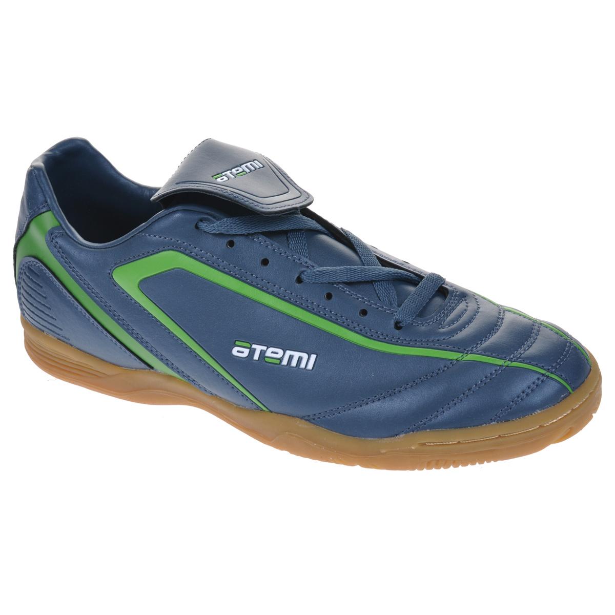 Бутсы футбольные для зала Atemi Indoor, цвет: серый, зеленый. SD500. Размер 43