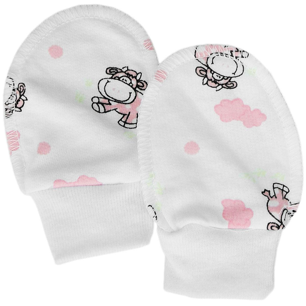 Рукавички5907Теплые рукавички для новорожденного Трон-плюс обеспечат вашему младенцу комфорт во время сна и бодрствования, предохраняя его нежную кожу от расцарапывания. Широкие эластичные манжеты не будут пережимать ручку. Изготовленные из натурального хлопка, они необычайно мягкие и легкие, не раздражают нежную кожу ребенка и хорошо вентилируются, а эластичные швы, выполненную наружу, обеспечивают максимальный комфорт ребенку и не препятствуют его движениям. Рукавички сделают сон вашего малыша спокойным и безопасным.